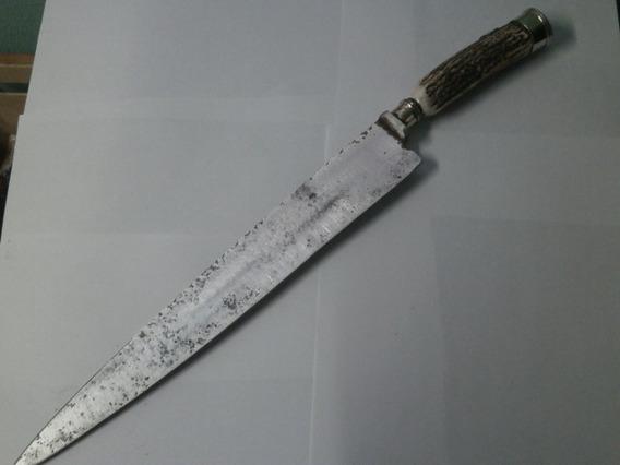 Cuchillo Herder Doble Llave 34 Cm Guampa Y Alpaca 06111