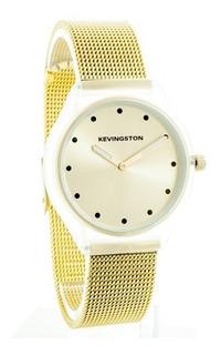 Reloj Mujer Kevingston 680 Malla Tejida Acero Impacto Online