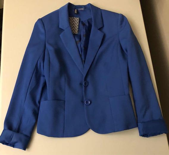 Blazer Azul Royal H&m Tam 34
