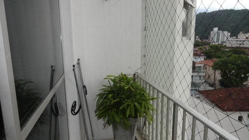 Apartamento À Venda, 84 M² Por R$ 375.000,00 - Campo Grande - Santos/sp - Ap5737