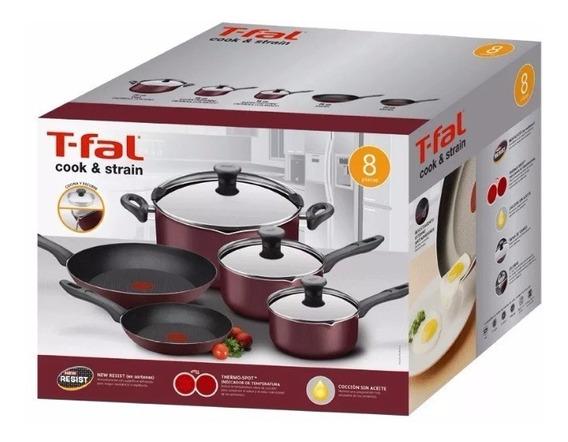 Batería De Cocina Tefal Cook & Strain 8 Pieza Tienda Oficial