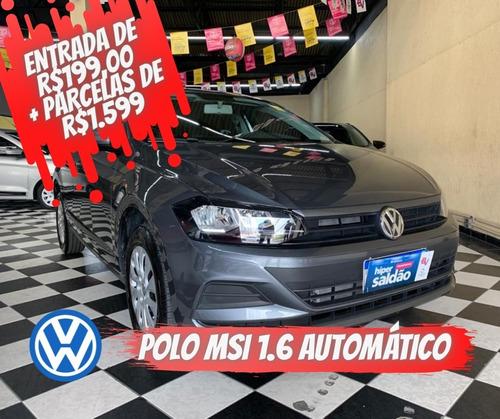 Volkswagen Polo Msi Total Flex 1.6 Cinza 2020/2021 Flex