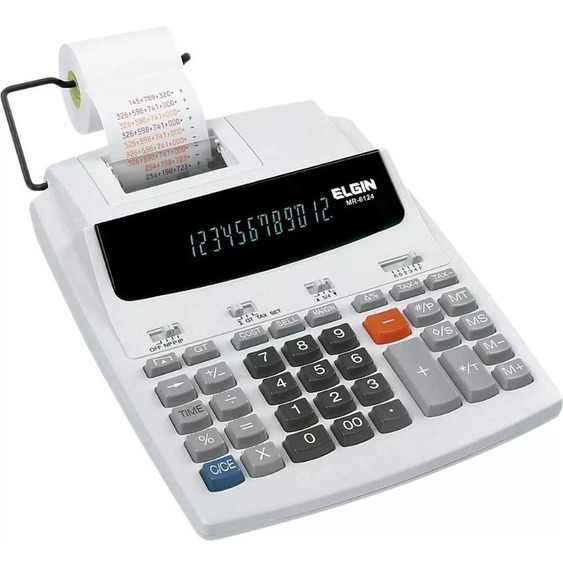 Calculadora De Mesa Mr6124 S/ Bobina Branca Elgin - Usado