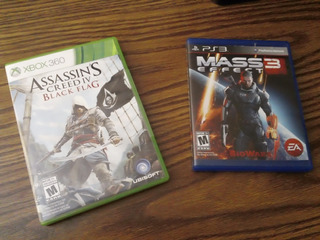 Xbox360 Assassins Creed 4- Ps3 Mass Effect 3- Discos Físicos