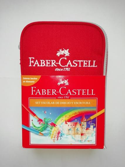 Faber-castell,set Escolar De Dibujo Y Escritura, 34 Piezas