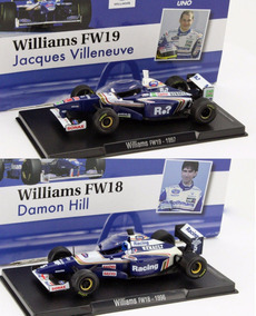 Kit 2 Carros Williams Damon Hill + Villeneuve 1/43 Altaya F1