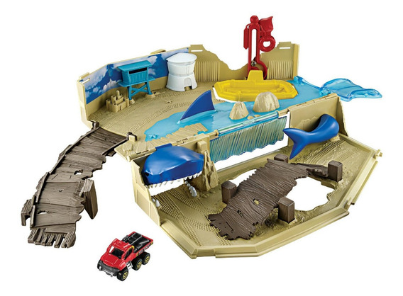 Pista Matchbox Tiburon Con Carro Original Mattel Tienda