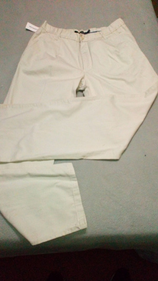 Pantalón D Vestir Blanco Kevinstong Talle 46 Nuevo Gabardina