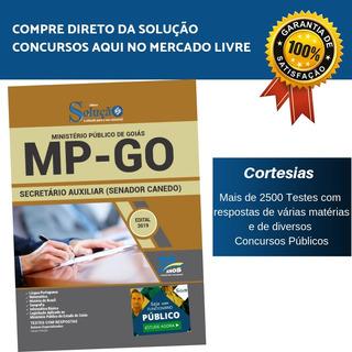 Apostila Mp Go Senador Canedo Goiás 2019 Secretário Auxiliar