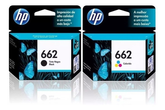 Kit Cartuchos Originais Hp 662 Preto + Color 2516 3516 1516 2546 3546 4646