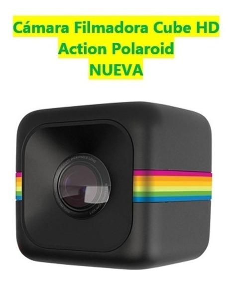Cámara Filmadora Cube Hd Action Polaroid + Accesorios Nueva