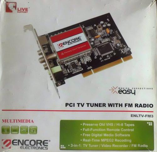 Imagen 1 de 5 de Capturadora De Video Encore Tv Radio Fm Pci