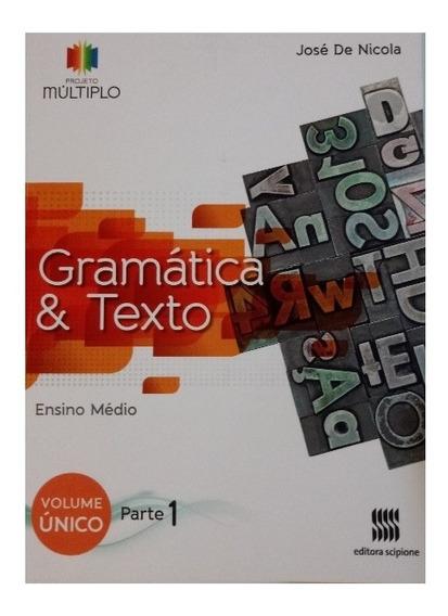 Projeto Múltiplo Gramática E Texto