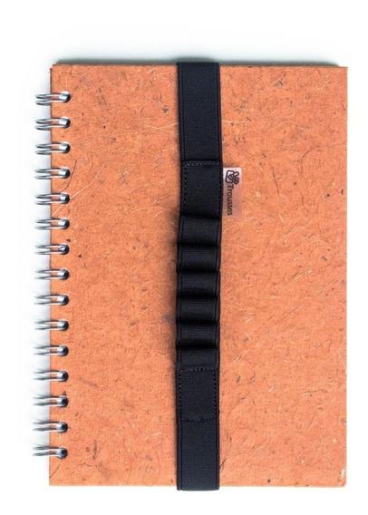 Elástico Escolar Para Caderno A5 Preto