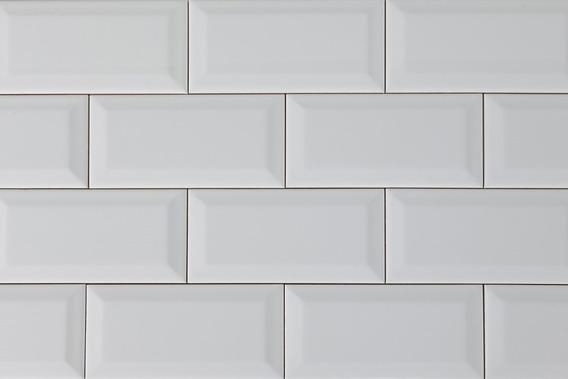 Azulejo Subway Biselado 10x20 Blanco Brillante X M2 Ms