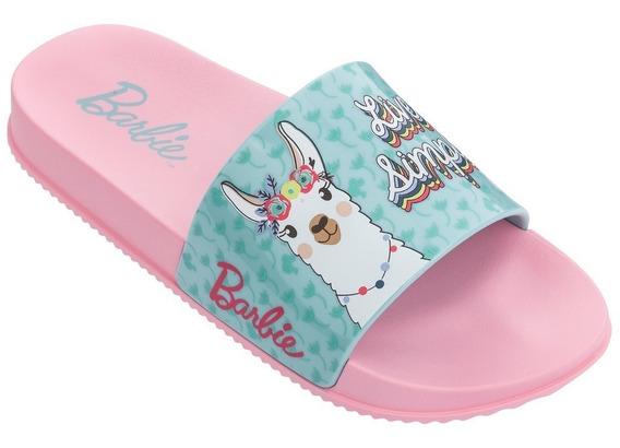 Chinelo Infantil Feminino Grendene Barbie Slide 21689 Novo