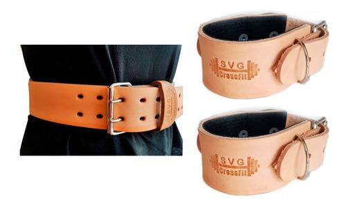 Cinturon Lumbar + Tobillera Para Polea Cuero Gym Servicegym