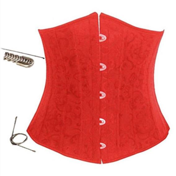 Underbust Rojo Barbas De Acero Trenzado Talla 3xl