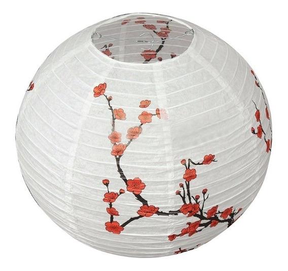 Lanterna Luminária Japonesa Oriental Bola Papel Sakura