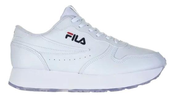 Tênis Feminino Fila Euro Jogger Wedge Sl Branco Promoção Nf