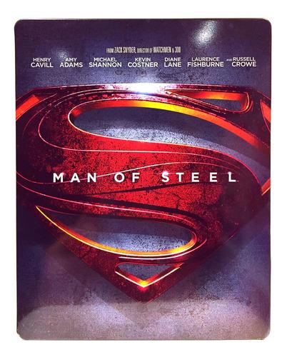 El Hombre De Acero Blu Ray Steelbook Man Of Steel Superman