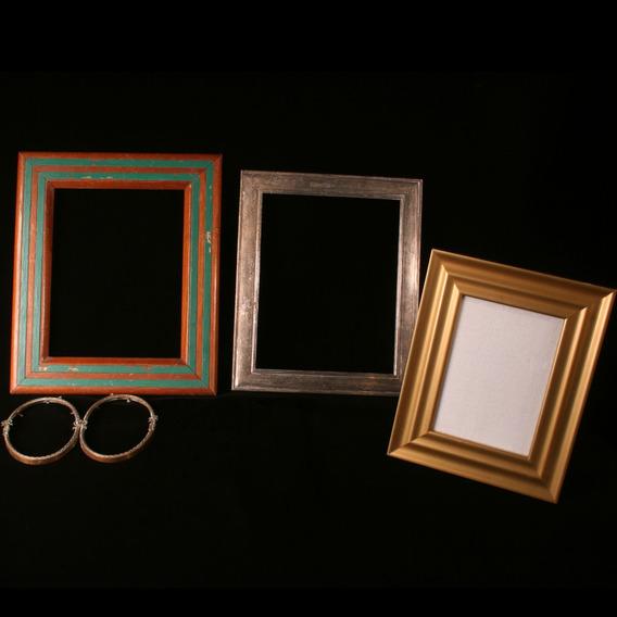 Lote Com 4 Porta-retratos De Diversas Épocas E Materiais.