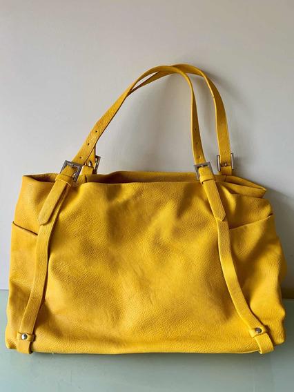 Cartera Amarilla Zara Mujer