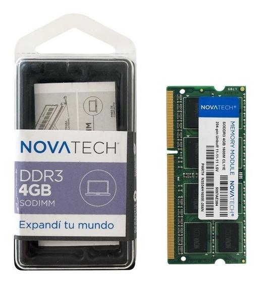 Memoria Ram Ddr3 4gb 1600/1333 Mhz Sodimm Novatech