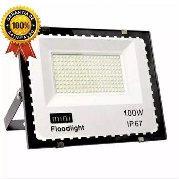 Refletor Holofote Led 100w Branco Frio Bivolt 110v 220v