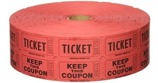Boletos Para Sorteo 2000 Por Rollo 50/50: Rojo Entrada