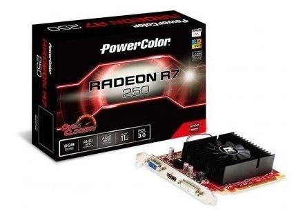 Placa De Vídeo Powercolor Radeon R7 250 2gb Oc (rara)