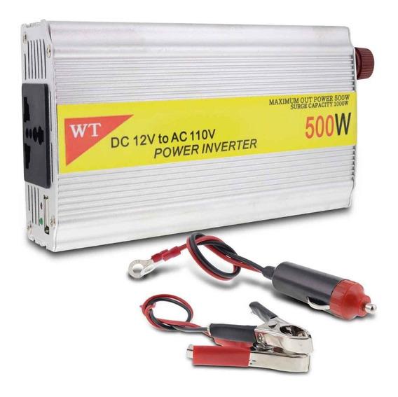 Inversor De Voltagem Automotivo 500w 12v Para 110v Conversor