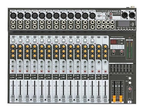 Mesa De Som Analógica Soundcraft 16 Canais Sx1602fx-usb