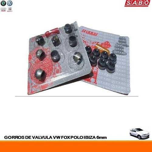 Gorros De Válvula Volkswagen Fox Polo Ibiza  6mm (blister 8)