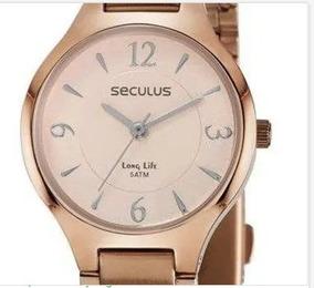 Relógio Pulso Feminino Seculus Fashion Rosé
