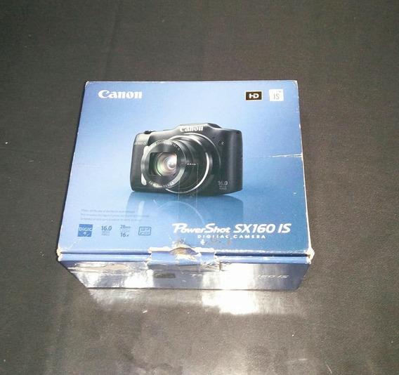 Powershot Sx160 Is Canon + Carregador E Pilhas