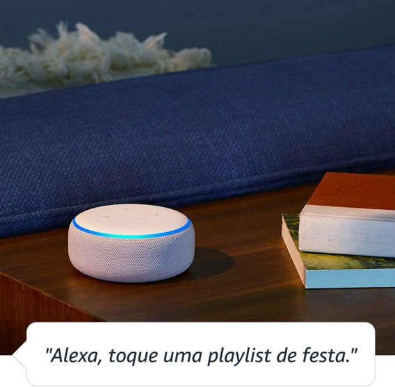 Echo Dot Amazon - Smart Speaker Com Alexa 3° Geração