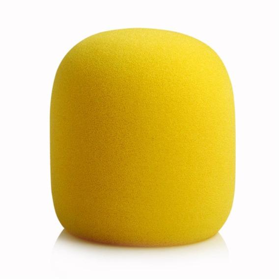 Espuma Para Microfone De Mão Sm58 Amarela