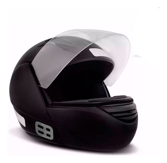 Capacete Ebf E08 1150 Robocop Preto Fosco Tamanho 61