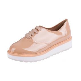 Sapato Beira Rio Oxford Bege