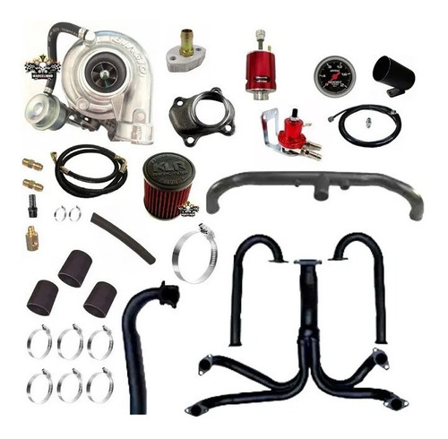 Kit Turbo Fusca 1.6 Dupla Carburação Turbo T2 / T25 Biagio