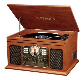 Vitrola Toca Discos 6 En1 Victrola Cassette Bluetooth Radio