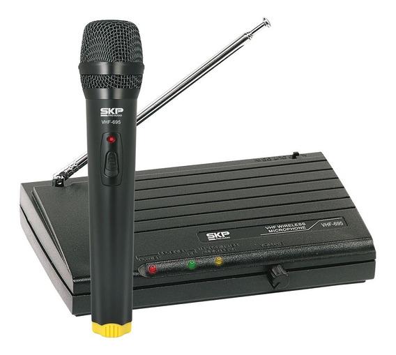 Microfone Sem Fio De Mão, Frequencia Vhf Alcance 50 Metros