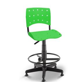 Cadeira Caixa Secretária Balcão Portaria Ergoplax Verde