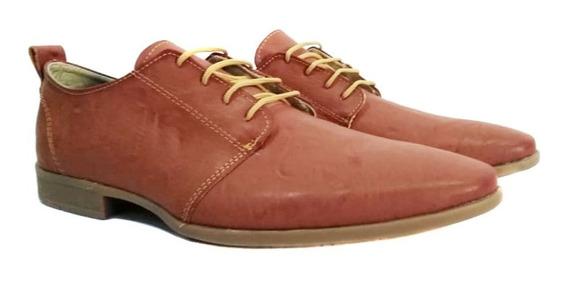 Zapatos De Vestir Hombre Ecocuero - Negros Y Marrón