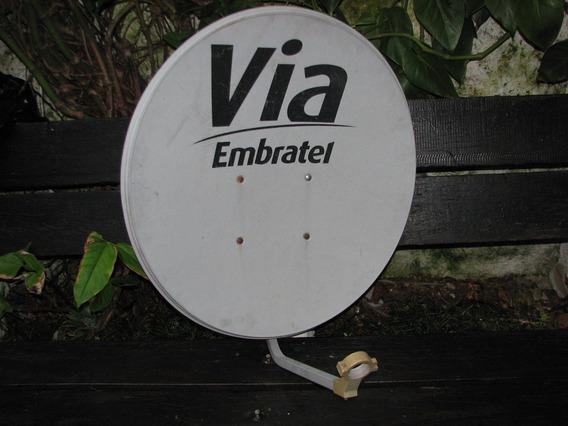 Antena 70 Cm Sem Lnb Para Tv De Alta Qualidade S. Nóva ! !