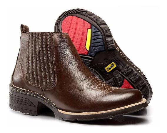 Botina Masculina Country Bota Texana Costurada Capelli Boots