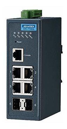 Switch Advantech Eki-7706g-2f-ae Enet Rj45 Sfp 10 100mbps ®