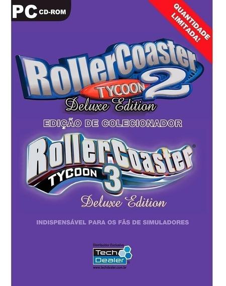 Roller Coaster 2 E 3 Deluxe - Jogo Lacrado P/ Pc Original