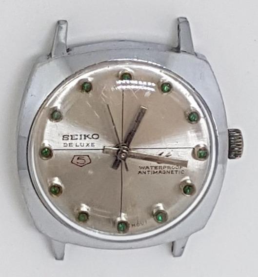 Relogio Vintage Pulso Seiko 5 De Luxe Japan 35 Mm